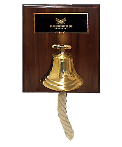 Accelerate Ship Bell Custom Award